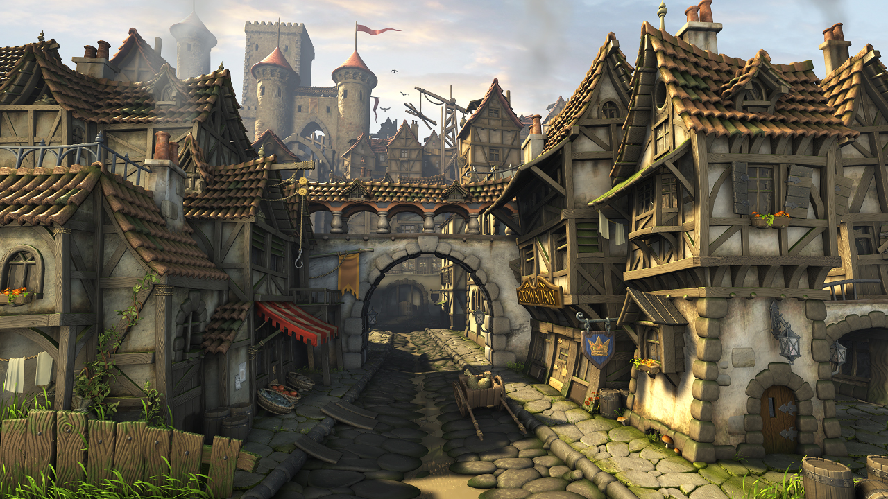 how to draw a medieval city